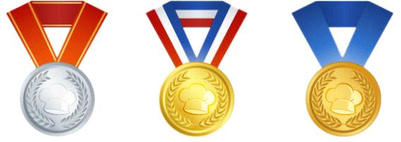 [تصویر: مدال های افتخار]